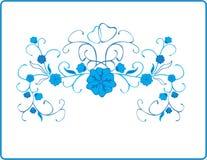Reticolo floreale blu di vettore Fotografie Stock Libere da Diritti
