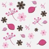 Reticolo floreale - colore rosa e colore marrone Immagini Stock