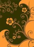 Reticolo floreale del Brown illustrazione vettoriale