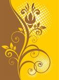 Reticolo floreale del Brown royalty illustrazione gratis