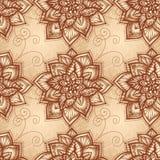 Reticolo floreale dell'annata con i fiori di doodle Fotografie Stock Libere da Diritti