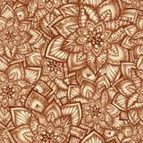 Reticolo floreale dell'annata con i fiori di doodle Fotografia Stock