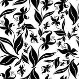 Reticolo floreale dell'annata senza giunte con l'orchidea royalty illustrazione gratis