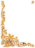 Reticolo floreale dell'oro Immagini Stock