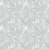 Reticolo floreale grigio senza giunte Fotografia Stock