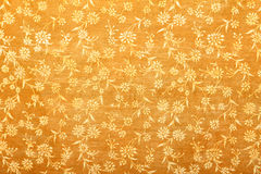 Reticolo floreale handmade arancione del documento di arte Fotografie Stock