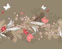 Reticolo floreale horisontal senza giunte Fotografia Stock