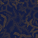 Reticolo floreale illustrazione del profilo delle foglie Fondo senza cuciture Fotografia Stock Libera da Diritti
