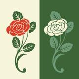 Reticolo floreale nei retro colori illustrazione di stock