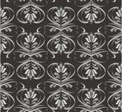Reticolo floreale nero Royalty Illustrazione gratis