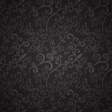 Reticolo floreale nero senza cuciture Fotografia Stock