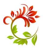 Reticolo floreale per il disegno Fotografia Stock