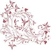 Reticolo floreale rosso Fotografia Stock