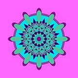 Reticolo floreale rotondo ornamentale Elemento floreale astratto Fotografia Stock Libera da Diritti