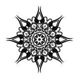 Reticolo floreale rotondo ornamentale Ornamento con gli elementi d'annata Fotografia Stock