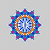 Reticolo floreale rotondo ornamentale Ornamento variopinto Fotografia Stock Libera da Diritti