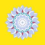 Reticolo floreale rotondo ornamentale Ornamento variopinto Fotografia Stock