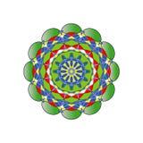 Reticolo floreale rotondo ornamentale Ornamento variopinto Immagini Stock