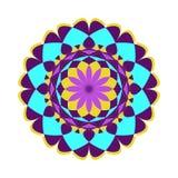 Reticolo floreale rotondo ornamentale Ornamento variopinto Fotografie Stock