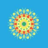 Reticolo floreale rotondo ornamentale Ornamento variopinto Immagini Stock Libere da Diritti