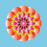 Reticolo floreale rotondo ornamentale Ornamento variopinto con l'annata Immagine Stock