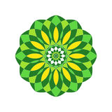 Reticolo floreale rotondo ornamentale Ornamento variopinto con l'annata Immagini Stock Libere da Diritti