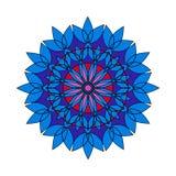 Reticolo floreale rotondo ornamentale Ornamento variopinto con l'annata Fotografia Stock Libera da Diritti