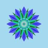 Reticolo floreale rotondo ornamentale Ornamento variopinto con l'annata Fotografie Stock