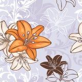 Reticolo floreale senza giunte Immagine Stock