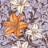 Reticolo floreale senza giunte Fotografia Stock