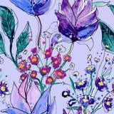 Reticolo floreale senza giunte Immagini Stock