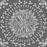 Reticolo floreale senza giunte di bianco del merletto Immagini Stock