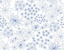 Reticolo floreale senza giunte di vettore illustrazione vettoriale