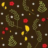 Reticolo floreale senza giunte di vettore Modello botanico della molla colourful decorativa d'avanguardia Metta delle piante, del royalty illustrazione gratis