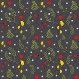 Reticolo floreale senza giunte di vettore Modello floreale della molla colourful decorativa d'avanguardia Metta delle piante, del royalty illustrazione gratis