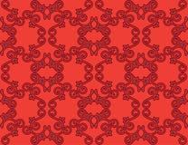 Reticolo floreale senza giunte rosso Royalty Illustrazione gratis