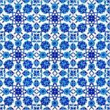 Reticolo floreale sulle vecchie mattonelle turche, Costantinopoli Immagine Stock Libera da Diritti