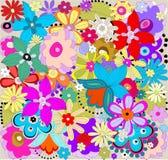 Reticolo floreale variopinto Illustrazione Vettoriale