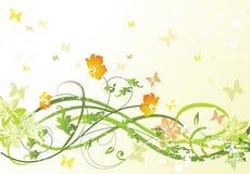 Reticolo floreale verde Immagini Stock Libere da Diritti