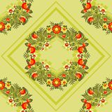 Reticolo floreale verde Immagine Stock Libera da Diritti