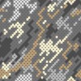 Reticolo Fondo di vettore del modello digitale grigio di camoflage Fotografia Stock