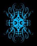Reticolo fragile di turbinio e di spirale Fotografia Stock