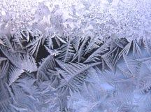 Reticolo gelido sulla finestra di inverno Fotografie Stock Libere da Diritti