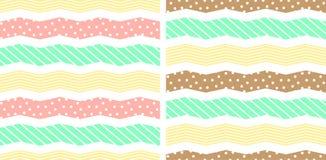 Reticolo geometrico astratto Linee di zigzag illustrazione di stock