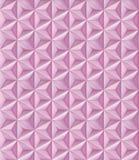 Reticolo geometrico astratto Modello dei poligoni triangolari rosa Fotografia Stock