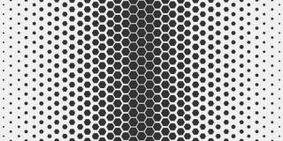 Reticolo geometrico astratto Modello esagonale della stampa di progettazione di modo dei pantaloni a vita bassa Favi neri su un f royalty illustrazione gratis