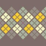 Reticolo geometrico astratto senza giunte La struttura del rombo brushwork Covata della mano Fotografia Stock Libera da Diritti