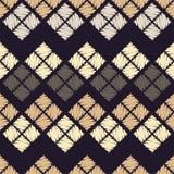 Reticolo geometrico astratto senza giunte La struttura del rombo brushwork Covata della mano Fotografie Stock