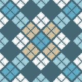 Reticolo geometrico astratto senza giunte La struttura del rombo brushwork Covata della mano Fotografia Stock