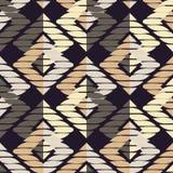 Reticolo geometrico astratto senza giunte La struttura del rombo brushwork Covata della mano Struttura dello scarabocchio illustrazione di stock